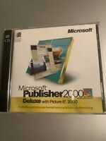 MICROSOFT PUBLISHER 2000 DELUXE 2 CD SET PRODUCT KEY PHOTO EDITING