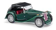 Busch 45913 H0 1:87 - MG Midget TC, Cabrio cerrado, azul - Nuevo en EMB. orig.