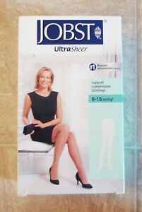 Jobst Ultra Sheer Silky Beige Support Compression Stockings 8-15mmHg Small