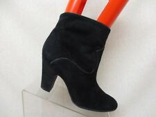 NINE WEST Black Suede Leather Ankle Fashion Boots Booties Size 9 M