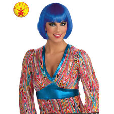 Short Bob Hair Wig Blue 20's Ladies Flapper Costume 1920 Party Gatsby Burlesque