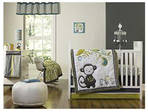 Happy Chic Baby Safari Monkey Collection Window Valance Jonathan Adler JA A16