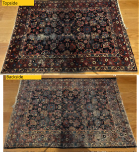 Beautiful Antique Oriental Rug - Worn - 3'x4' - Hand Knotted - >1000 KPSI