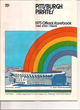 1973 PITTSBURGH PIRATES OFFICIAL SCOREBOOK JUNE 30TH, 1973 VS EXPOS