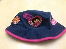 Nick Jr. Dora and Boots Kids Girls Bucket Hat Blue/Pink