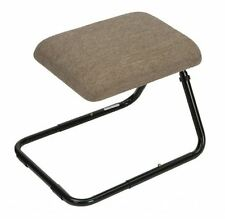 Height Adjustable Padded Cushioned Leg Rest Tilting Support Footstool