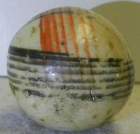 #10179M Rare Huge 1.50 Inches German China Marble With Intersecting Lines