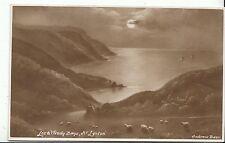Devon Postcard - Lee & Woody Bays - Near Lynton - Showing Sheep  ZZ1300