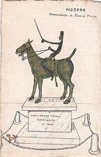 MODENA: Monumento al due di picche -dis. originale con sfotto' contro Formiggini