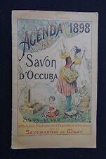 Catalogue agenda 1898 SAVON D'OCCUBA Savonnerie de MEZY expo Alençon