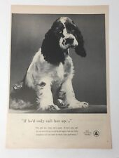 Original Magazine Ad 1954 BELL TELEPHONE SYSTEM If He'd Only Call Her Up Dog