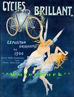 Cycles Brilliant 1900 Vintage Poster Print French Bicycle Universal Exposition