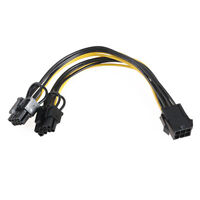 6 Pin PCI-E-Modul Buchse auf Dual 8 Pin Stecker Grafikkarte Stromkabel Adapter