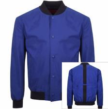 HUGO BY HUGO BOSS BORIS1831 DARK BLUE BOMBER JACKET LARGE BRAND NEW RRP £269