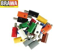 Brawa 3051 Cross hole plug rund, 2,5 mm, yellow (10 Pcs) - NEW + IN ORIGINAL BOX