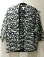 H&M Womens Warm 3/4 Sleeves Open Front Cardigan 18% Wool Size S