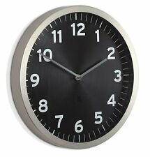 Umbra ANYTIME WALL CLOCK Chrome BLACK 32cm in diam