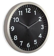 Umbra 32cm ANYTIME WALL CLOCK Silver BLACK
