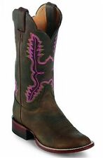 Justin Womens L5042 Vintage Punchy Bay Apache Western Retro Style Boots 8B USA