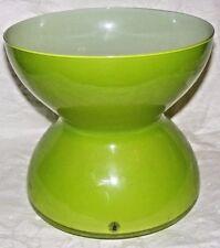 ANNE NILSSON IKEA LGE LIME GREEN CASED GLASS VASE HOUR GLASS POST MODERN DESIGN