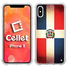 Vintage Dominican Republic County Flag on iPhone X Case