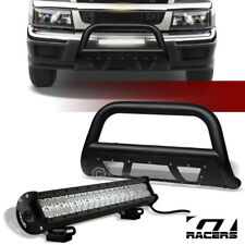 For 04-12 Colorado/Canyon Textured Blk Studded Mesh Bull Bar+120W CREE LED Light