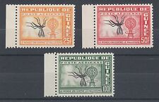 Guinea Sc C29-C31 MNH. 1962 Malaria complete set with Inverted Centers. Insects