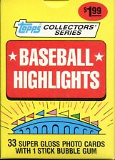 (1) 1987 Woolworth's Topps Baseball Highlights Complete Factory Set ~ 33 Cards