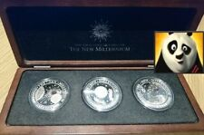 2000 Kiribati Silver Proof $20 Harmony, Faith, & Hope Millennium Set in Wood Box