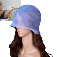 Highlighting Reusable Hair Hairdressing Colouring Frosting Dye Cap Hat with Hook