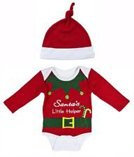 Santa'S Little Helper Christmas Diaper Shirt, Cap by Baby Ganz Size: 0-6 Months