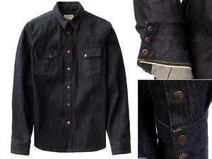 Nudie Jeans Jonis 13.5oz. Organic Dry Selvage Denim Shirt Jacket L