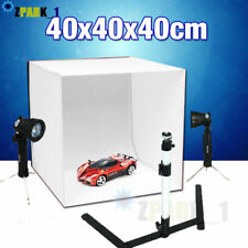 Portable Photo Studio Lighting Cube Tent Kit 40CM Soft Light Box + 4 Backgrounds