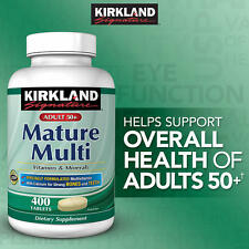 Kirkland Signature Adults 50+ Mature Multi, 400 Tablets
