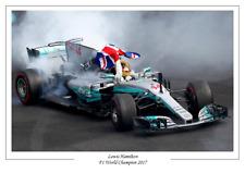 Lewis Hamilton 2017 F1 FORMULA ONE WORLD CHAMPION POSTER stampati