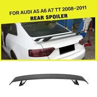 Carbon Fiber Rear Trunk Spoiler Boot Wing For Audi TT TTS 8J A5 A7 A6 08-11
