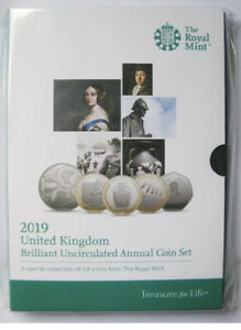 2019 ROYAL MINT BRILLIANT UNCIRCULATED 13 COIN ANNUAL SET IN MINT CONDITION