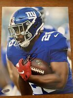 Saquon Barkley Hand Signed Autographed Giants 8X10 Photo W/COA Penn State