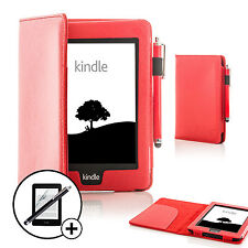 Forefront CaseLeather Red Smart Case Kindle Paperwhite 2015 Stylus Scrn Prot