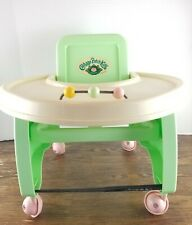 Vintage 1986 Cabbage Patch Kids Baby Doll Toy Walker Highchair