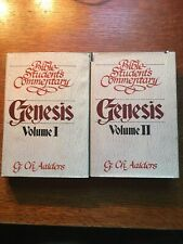 Bible Student's Commentary: Genesis Vols 1-2 by G. Ch. Aalders (1981, HC, DJ)