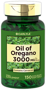 Oregano Oil 3000 mg 150 Softgel Capsules | Contains Carvacrol | by Carlyle