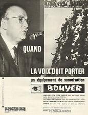 Publicité Advertising 1964  Equipement de sonorisation BOUYER
