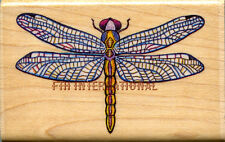 "Dragonfly ~ All Night Media Wood Mount Rubber Stamp #508F 2.5"" x 1.5"", Water Bug"