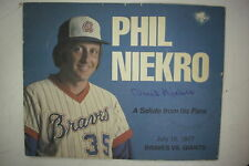 Signed Phil Niekro July 1977 Braves Vs Giants Booklet*Hall of Fame*Knuckleball