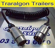 2 metre round male extension adapter plug for trailer lights caravan car K22
