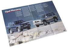 Opel Monterey Poster Beilage Opel Start Auto PKWs Deutschland Verkehr Europa