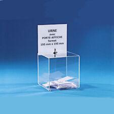 Urna trasparente 20x20x20cm x hotel palestre statistiche offerte beneficenza bar