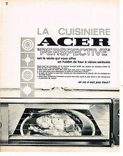 PUBLICITE ADVERTISING   1967   ACER  cuisinière four  à hublot