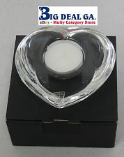 Orrefors Crystal Heart Amour 6500662 102mm Candle Holder w/ Tealight Candle NIB